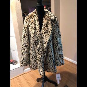 Brand new Avec Les Filles Leopard Oversized coat